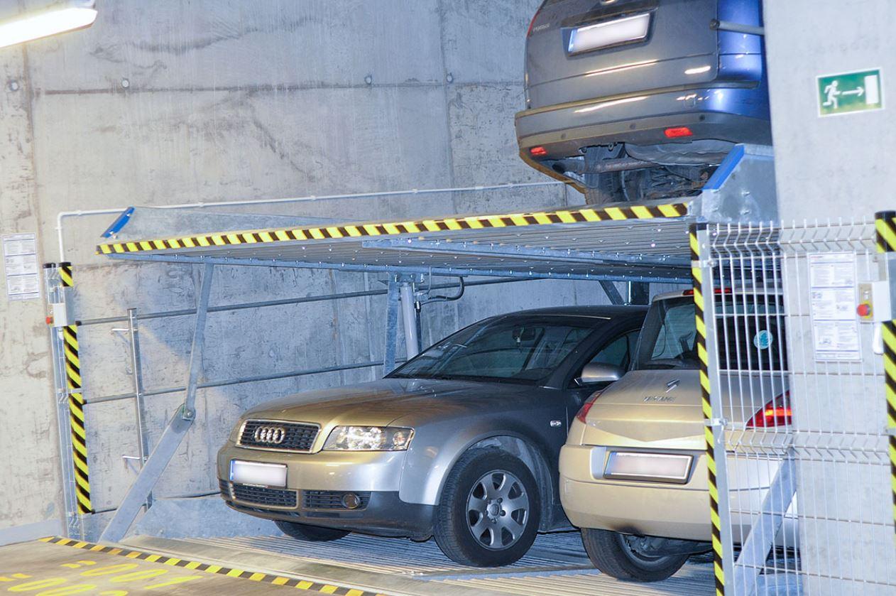Duplexparker, Autos übereinander parken