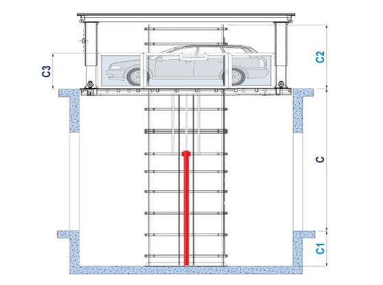 Autolift Garage | Fahrzeuglift Garage | Autolift Tiefgarage
